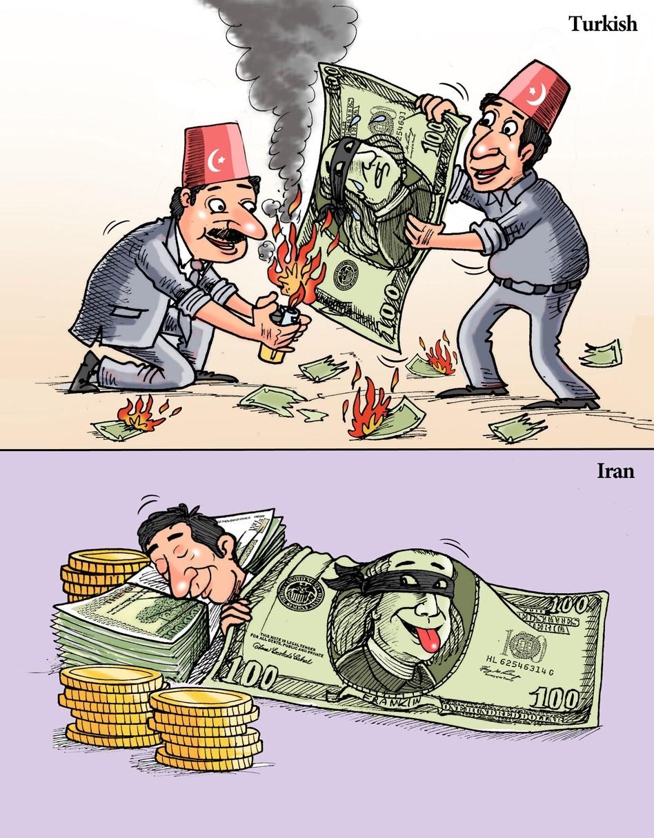 عکس خبري -نه به دلارهاي آمريكايي! / كاريكاتور