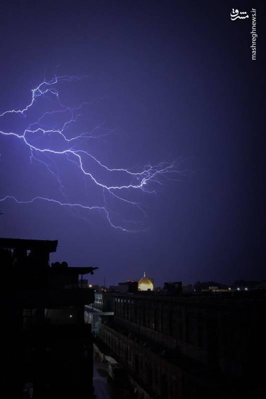 عکس خبري - عکسي ناب از رعدوبرقي زيبا در آسمان نجف اشرف