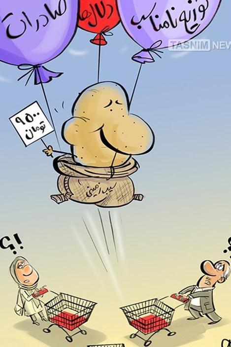عکس خبري -پرواز بلند سيب زميني!
