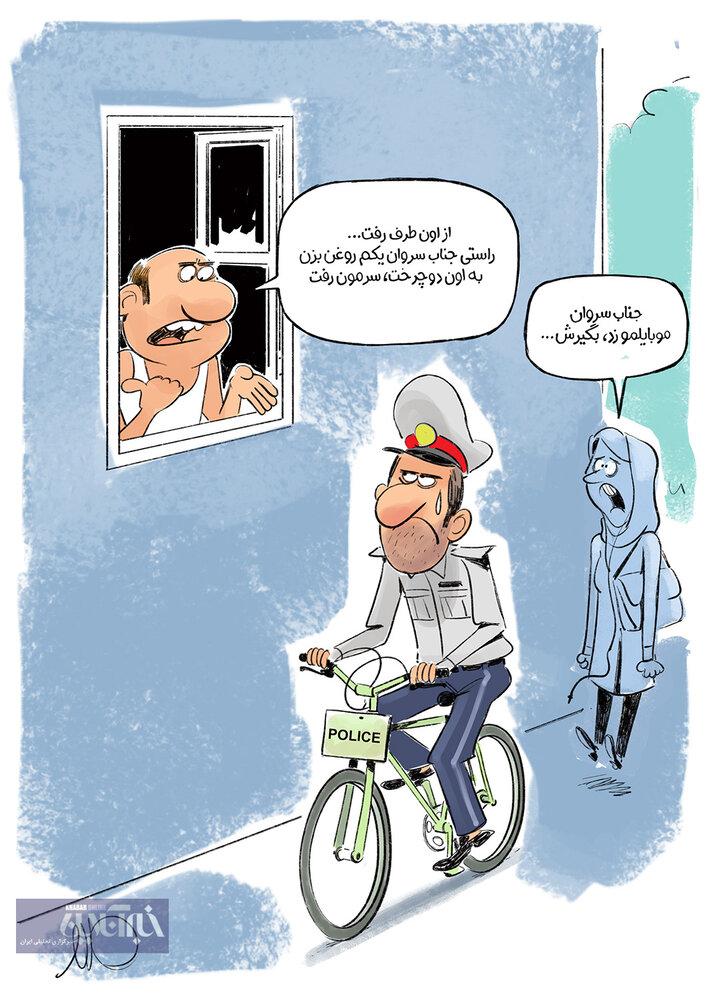 عکس خبري -شروع فعاليت پليس دوچرخه سوار در تهران