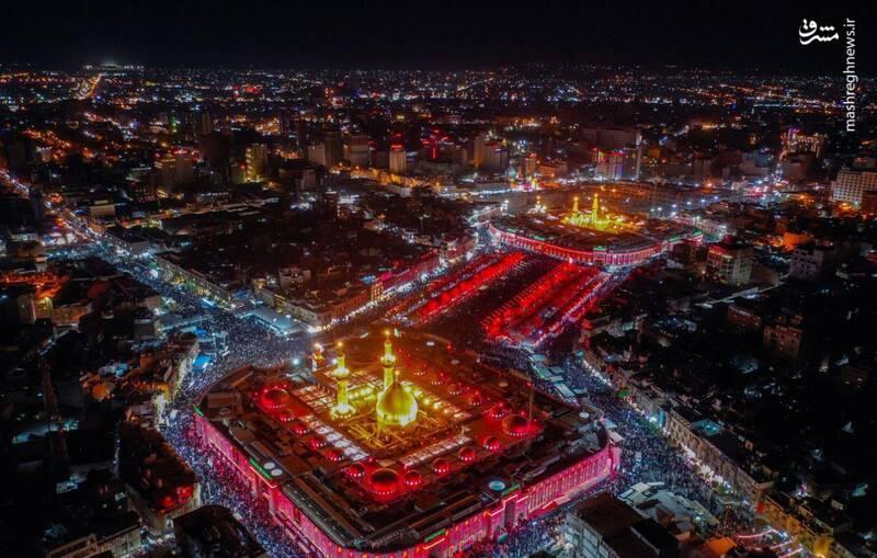 عکس خبري - تصويري بهشتي از کربلا در شب اول محرم