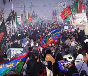 عکس خبري -غوغاي ايرانيان پاي ستون202 مسير نجف-کربلا