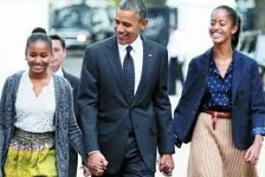 عکس خبري -اوباما نگران سرنوشت دخترانش