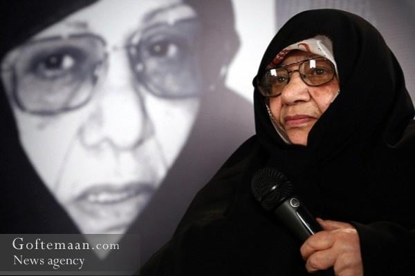 عکس خبري -حداد عادل : خانوم دباغ چادر را به عنوان يک پرچم ارزشي و اعتقادي به دوش مي کشيدند