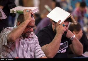 عکس خبري -احياي شب بيست و يکم ماه رمضان در کربلا