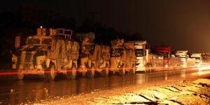 عکس خبري -ترکيه تجهيزات جديدي وارد خاک سوريه کرد
