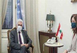 عکس خبري -ديدار بحثبرانگيز وزير خارجه لبنان با سفير آمريکا
