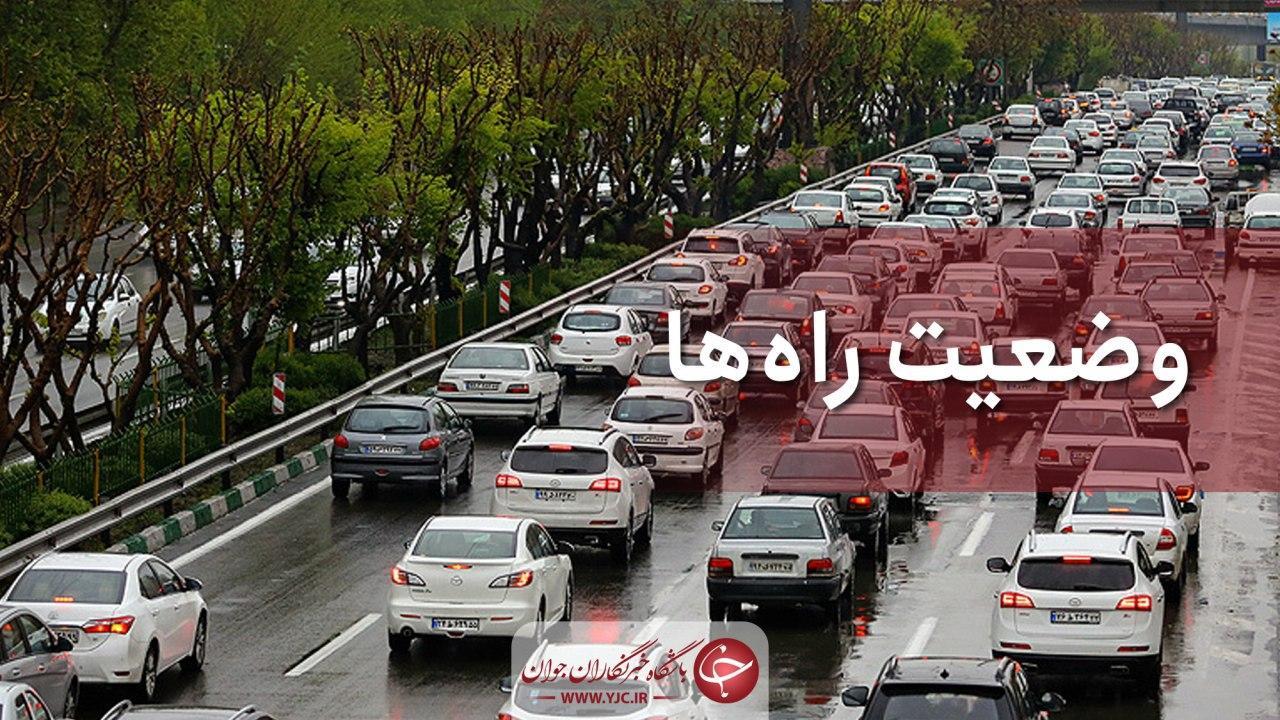 عکس خبري -وضعيت محورهاي مواصلاتي در دوم مهر؛ افزايش ?.? درصدي تردد در محورهاي برونشهري