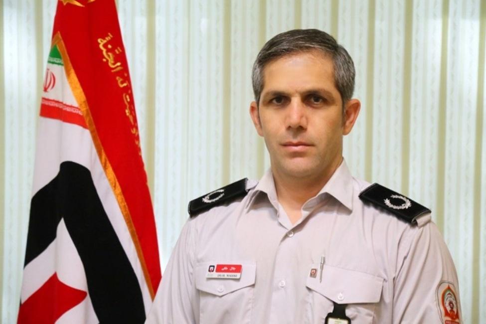 عکس خبري -آتش سوزي جان يک نفر را در شهرک احمديه گرفت