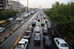 عکس خبري -وضعيت ترافيکي معابر تهران در اولين روز آذر