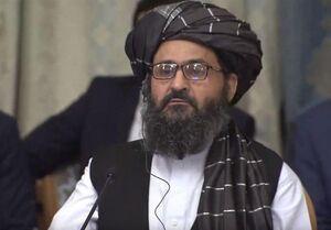 عکس خبري -سفر هيأت سياسي طالبان به رياست ملا عبدالغني به تهران