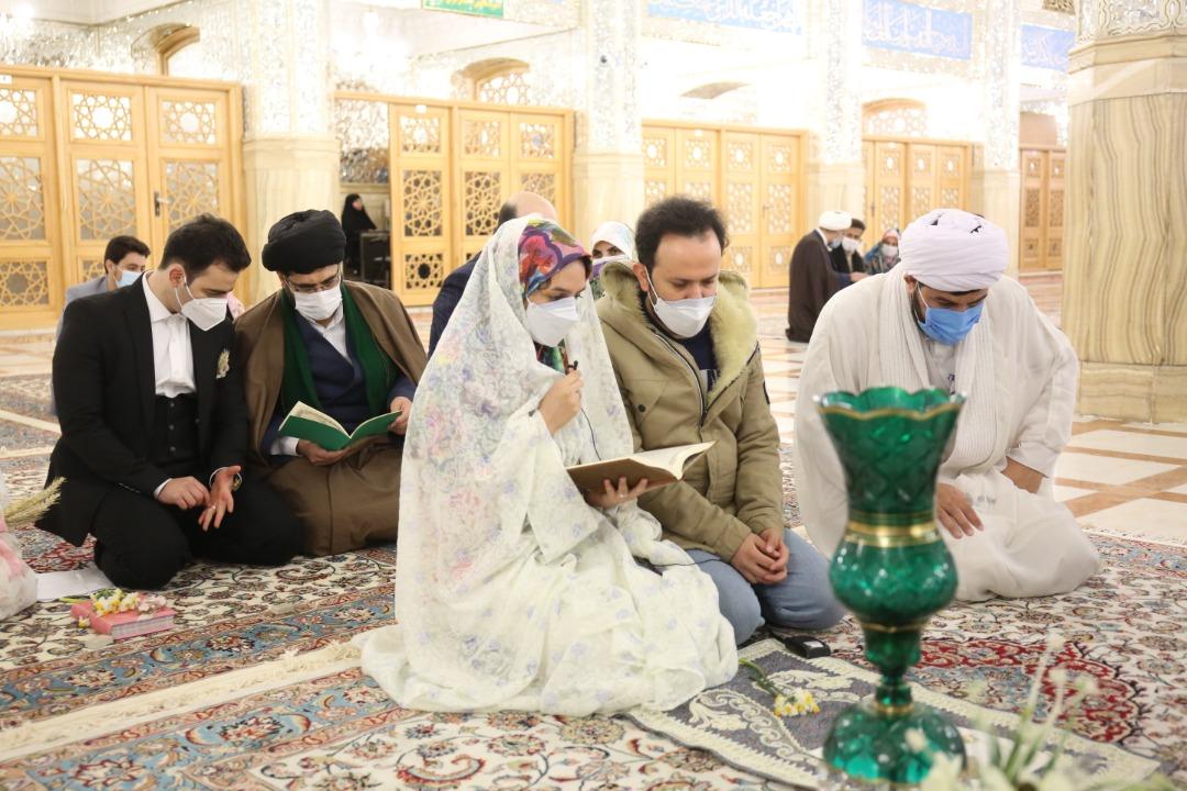 عکس خبري -برگزاري مراسم ازدواج زوجهاي جوان در حرم امام رضا(ع)