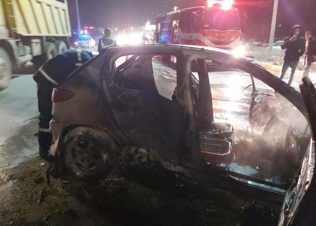 تصادف زنجيرهاي هشت خودرو در محور لار- جهرم ?? مجروح داشت
