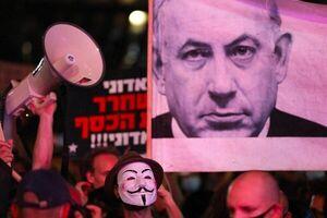 عکس خبري -ادامه تظاهرات عليه نتانياهو در سي و هفتمين هفته متوالي