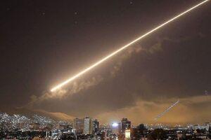 عکس خبري -مقابله پدافند هوايي ارتش سوريه با حمله رژيم صهيونيستي