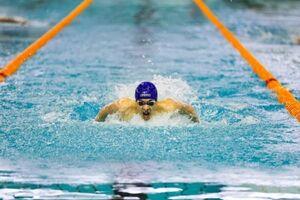 عکس خبري -درخشش متين بالسيني در شنا ??? متر پروانه