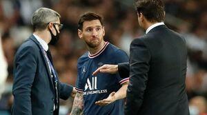 عکس خبري -واکنش پوچتينو به ناراحتي مسي در زمان تعويض