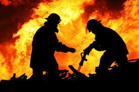 عکس خبري -آتش سوزي مهيب در امامزاده حسن